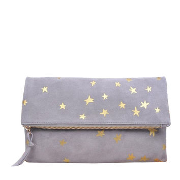 Mandi Clutch in Grey