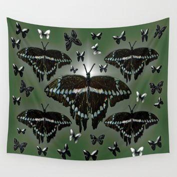 Giant Swallowtail Butterflies Wall Tapestry by Deluxephotos