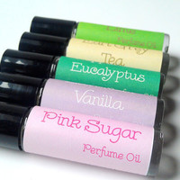 Roll On Perfume Oil 4 Pack- Any Scent by ZEN-ful , Perfume Gift Pack, Gift Ideas, Gifts For Her