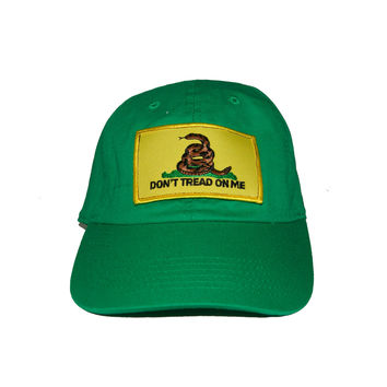 Vintage Culture Dont Tread On Me Dad Cap in Kelly Green