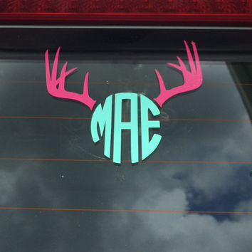 Antler Monogram Decal - For Your Car, Laptop, Anything!