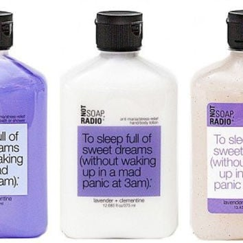 "Shower Gel, Exfoliating Body Scrub, & Lotion Gift Set - Lavender & Clementine ""To Sleep Full Of Sweet Dreams"" Gift Collection..."