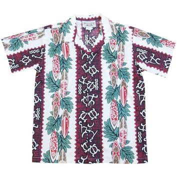 hieorglyph red boy hawaiian shirt