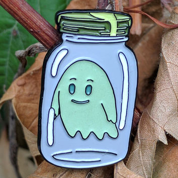 Rick & Morty Ghost In A Jar Enamel Lapel Pin
