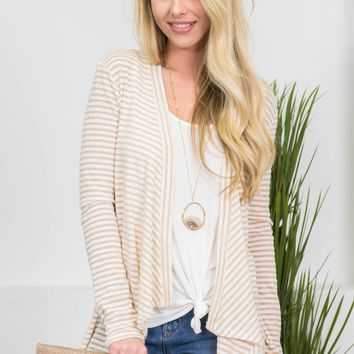 Sandy Beach Striped Cardigan