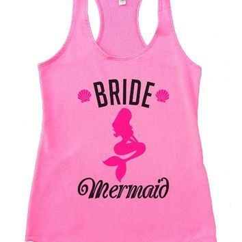 Bride's Mermaid Womens Workout Tank Top
