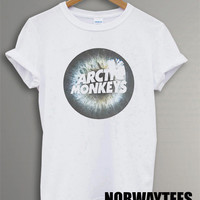 New Arctic Monkeys Shirt The Eye Symbol Printed on and White t-Shirt For Men or Women Size TS 73