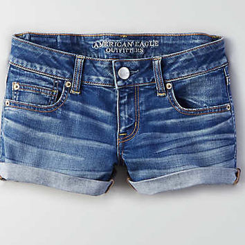 AEO Denim X Super Low Shortie , Twilight Blue