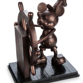 Disney Store Mickey Steamboat Willie Bronzed Figurine Limited Edition New w Box