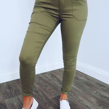 First Day Jeans: Olive
