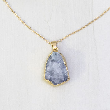 Tonio Geode Necklace