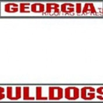 Georgia Bulldogs Chrome License Plate Frame | UGA License Plate Frame | UGA Auto Tag