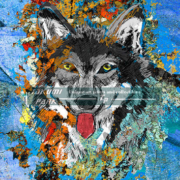 Artistic Wolf Art Print, Animal Artwork, Wildlife Decor, Nature Print, Wolf Wall Art, Poster Print, Photo Print, Wolf Gifts, Gray Wolf Decor