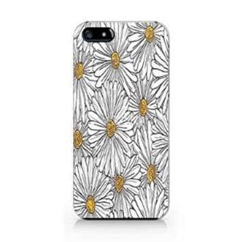 Floral Daisy Iphone 5 Case, Floral Daisy Iphone 5S Case Plastic Hard White Case Unique Design-Quindyshop