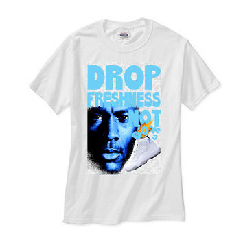 Jordan Retro 11 XI Legend Blue Columbia Freshness white tee