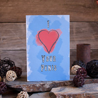 Valentine's Day Card For Men Mature Sexy Heart Penis