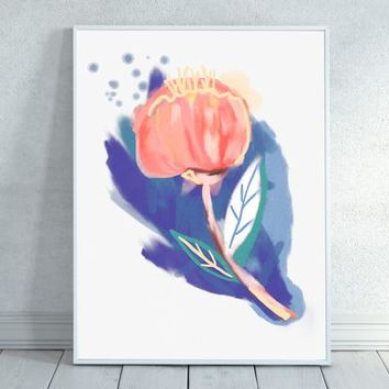 Pink Flower Watercolor, Abstract Watercolor, Abstract, Watercolor, Pink Watercolor, Floral Painting, Floral, Pink Decor, Nature Art