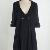 Steampunk Long 3 Busy Week Tunic in Black