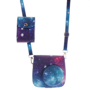 [Fujifilm Instax Mini 8 Classic Camera Case Series] WOODMIN Starry Sky Galaxy...