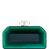 Green Faceted Rectangle Speccio Clutch
