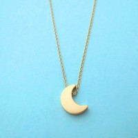Crescent, Moon, Necklace, Goldfilled Necklace, Jewelry | simplecrystal - Jewelry on ArtFire