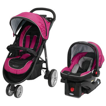 Graco Aire3 Click Connect Travel System Stroller - Flora