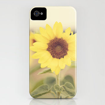 Sunflower Field iPhone Case by Erin Johnson | Society6