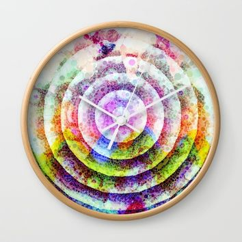 Colorful Circle Wall Clock by Jeanette Rietz