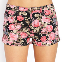 Rockin Rose Denim Shorts