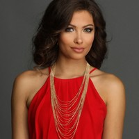 Sale-gold Sparkle Layered Necklace