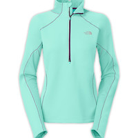 The North Face Women's Shirts & Tops Running/Training/Yoga WOMEN'S MOMENTUM THERMAL 1/2 ZIP