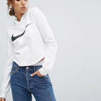 Nike Cropped Hoodie In White at asos.com