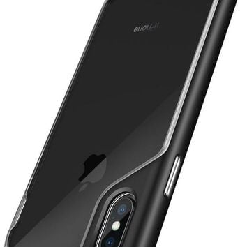 DCCKNY1 Caseology Skyfall Series Case Designed for iPhone X with Ultra Clear Slim Transparent Cover and Scratch Resistant Protection for Apple iPhone X / iPhone 10 - Black