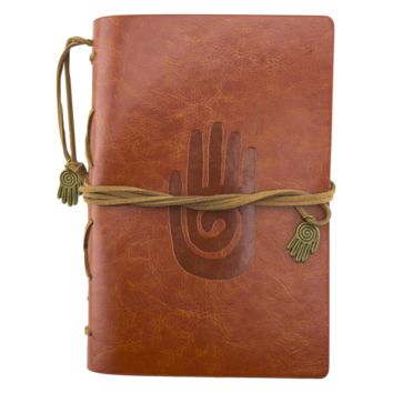 Qi Hand Brown Leather Journal Planner Organizer