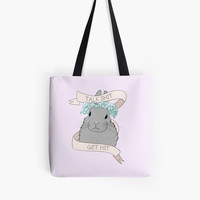 'Talk Shit Get Hit' Tote Bag by artbydanie