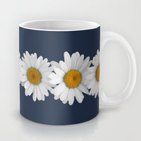 Daisy Chain on Navy Mug by Tangerine-Tane