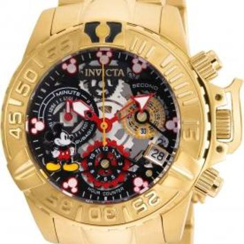 Invicta 24507 Women's Disney Limited Edition Quartz and Stainless Steel Casual Watch Gold-Toned
