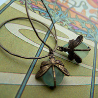 1ofmykind Jewels by Jody McGill ? Dragonfly Hoops- Chalcedony