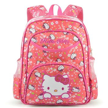 Pink Hello Kitty Schoolbag Girls Kawaii Cartoon printing Backpacks School Bags for Kids Cute Gift Korean Bagpack School Supplies