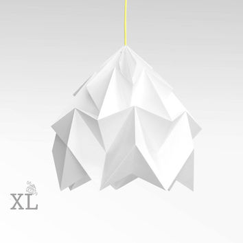 XL Moth origami lampshade white