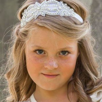 Evaline Ivory Crystal Jewel Headband