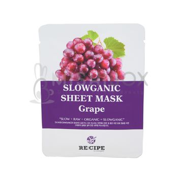 RE:CIPE Slowganic Sheet Mask (Grape) [EXP 08.18.2018]