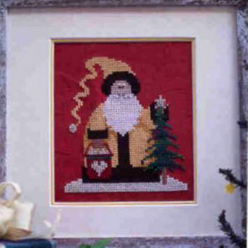 The Golden Christmas Santa Cross Stitch Graph by Mosey 'N Me