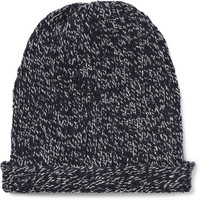 Dolce & Gabbana - Marled Cashmere and Wool-Blend Beanie Hat | MR PORTER