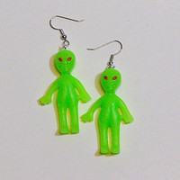 Glow-In-The-Dark Alien Earrings