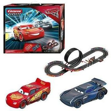 Carrera Go Disney Pixar Cars 3 Finish First Slot Car Racing Race Set 62418 NEW