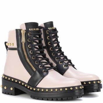 Exclusive to mytheresa.com – embellished leather ankle boots
