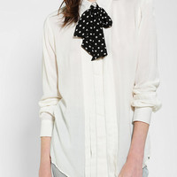 Cooperative Chiffon Bow Button-Down Shirt - Urban Outfitters