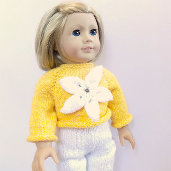 18 Inch Doll Clothes, Doll Sweater, Doll Leggings