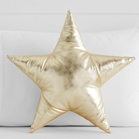 The Emily & Meritt Metallic Star Shaped Decorative Pillow